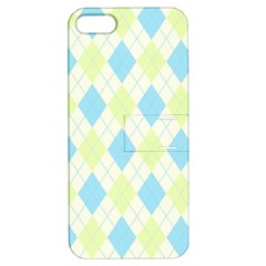 Plaid pattern Apple iPhone 5 Hardshell Case with Stand