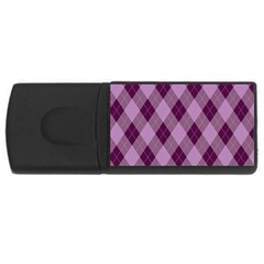 Plaid Pattern Usb Flash Drive Rectangular (4 Gb)