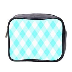 Plaid pattern Mini Toiletries Bag 2-Side