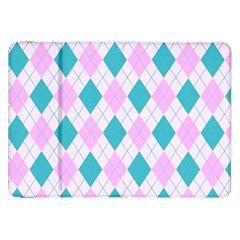 Plaid pattern Samsung Galaxy Tab 8.9  P7300 Flip Case