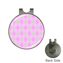 Plaid Pattern Hat Clips With Golf Markers