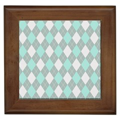 Plaid pattern Framed Tiles