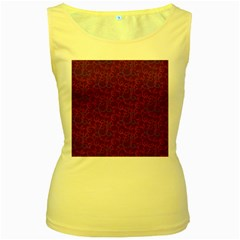 Plaid pattern Women s Yellow Tank Top