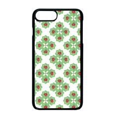 Floral Collage Pattern Apple Iphone 7 Plus Seamless Case (black)