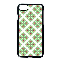Floral Collage Pattern Apple Iphone 7 Seamless Case (black)