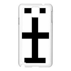 Cross Potent Samsung Galaxy Note 3 N9005 Case (white)