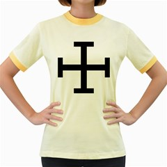 Cross Potent  Women s Fitted Ringer T-Shirts