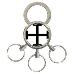 Cross Potent  3-Ring Key Chains