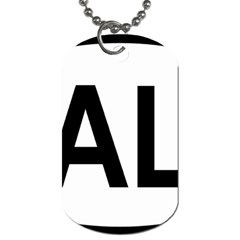 Albania Country Code  Dog Tag (One Side)