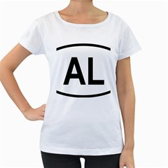 Albania Country Code  Women s Loose-Fit T-Shirt (White)