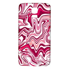 Pink Marble Pattern Samsung Galaxy S5 Back Case (White)