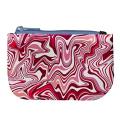 Pink Marble Pattern Large Coin Purse