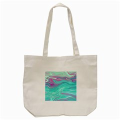 Iridescent Marble Pattern Tote Bag (cream)