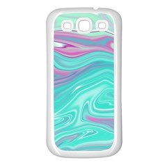 Iridescent Marble Pattern Samsung Galaxy S3 Back Case (White)