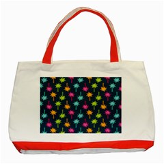 Funny Palm Tree Pattern Classic Tote Bag (red)