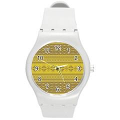 Pattern Round Plastic Sport Watch (M)