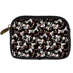 Dark Chinoiserie Floral Collage Pattern Digital Camera Cases