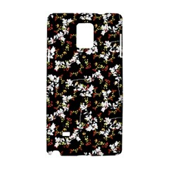 Dark Chinoiserie Floral Collage Pattern Samsung Galaxy Note 4 Hardshell Case