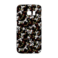 Dark Chinoiserie Floral Collage Pattern Galaxy S6 Edge