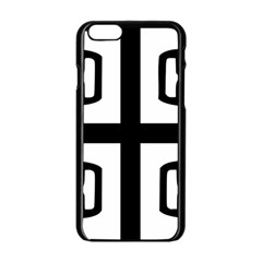 Serbian Cross Apple Iphone 6/6s Black Enamel Case