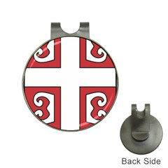 Serbian Cross Shield Hat Clips With Golf Markers