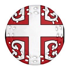 Serbian Cross Shield Ornament (Round Filigree)