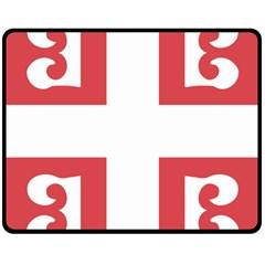 Serbian Cross  Double Sided Fleece Blanket (medium)