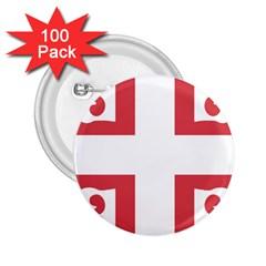 Serbian Cross  2.25  Buttons (100 pack)