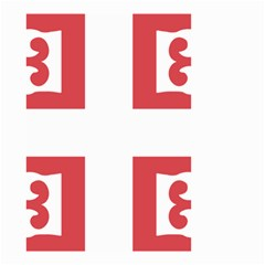 Serbian Cross  Small Garden Flag (two Sides)