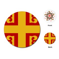 Byzantine Imperial Flag, 14th Century Playing Cards (Round)
