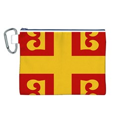 Byzantine Imperial Flag, 14th Century Canvas Cosmetic Bag (L)
