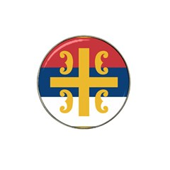 Flag of The Serbian Orthodox Church Hat Clip Ball Marker (10 pack)