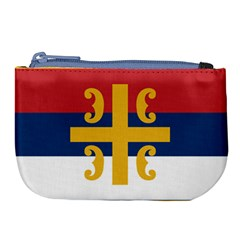 Flag Of The Serbian Orthodox Church Large Coin Purse
