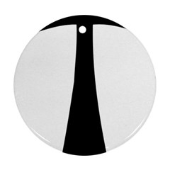 Tau Cross  Round Ornament (Two Sides)