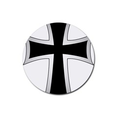 Cross of the Teutonic Order Rubber Round Coaster (4 pack)