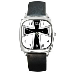 Cross of the Teutonic Order Square Metal Watch
