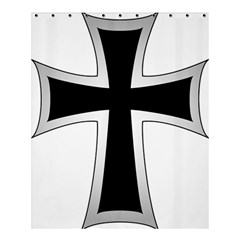 Cross of the Teutonic Order Shower Curtain 60  x 72  (Medium)