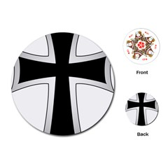 Cross of the Teutonic Order Playing Cards (Round)