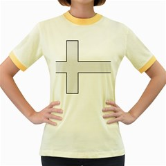 Cross of Philip the Apostle Women s Fitted Ringer T-Shirts