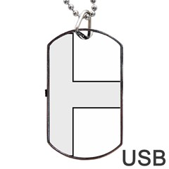 Cross of Philip the Apostle Dog Tag USB Flash (One Side)