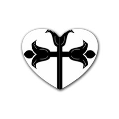 Caucasian Albanian Cross Heart Coaster (4 pack)