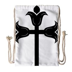 Caucasian Albanian Cross Drawstring Bag (Large)