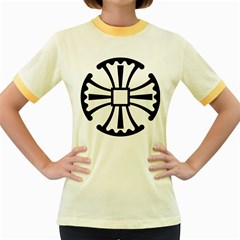 Canterbury Cross  Women s Fitted Ringer T-Shirts