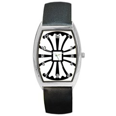 Canterbury Cross  Barrel Style Metal Watch