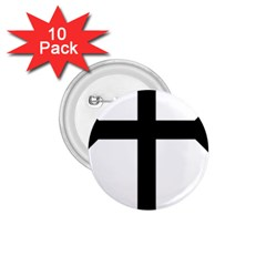 Eastern Syriac Cross 1.75  Buttons (10 pack)