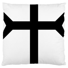 Eastern Syriac Cross Large Cushion Case (Two Sides)
