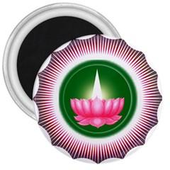 Ayyavazhi Symbol  3  Magnets