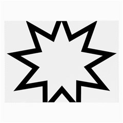 Baha i Nine-Pointed Star  Large Glasses Cloth (2-Side)