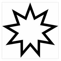 Baha i Nine-Pointed Star  Large Satin Scarf (Square)