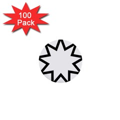 Baha i Nine-Pointed Star 1  Mini Buttons (100 pack)